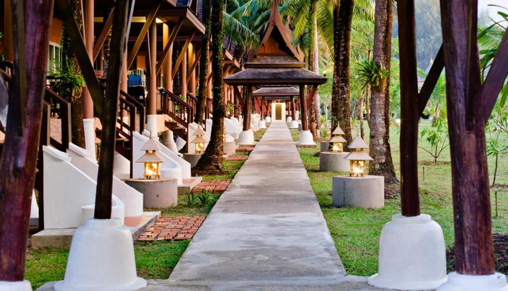A garden outside C&N Kho Khao Beach Resort
