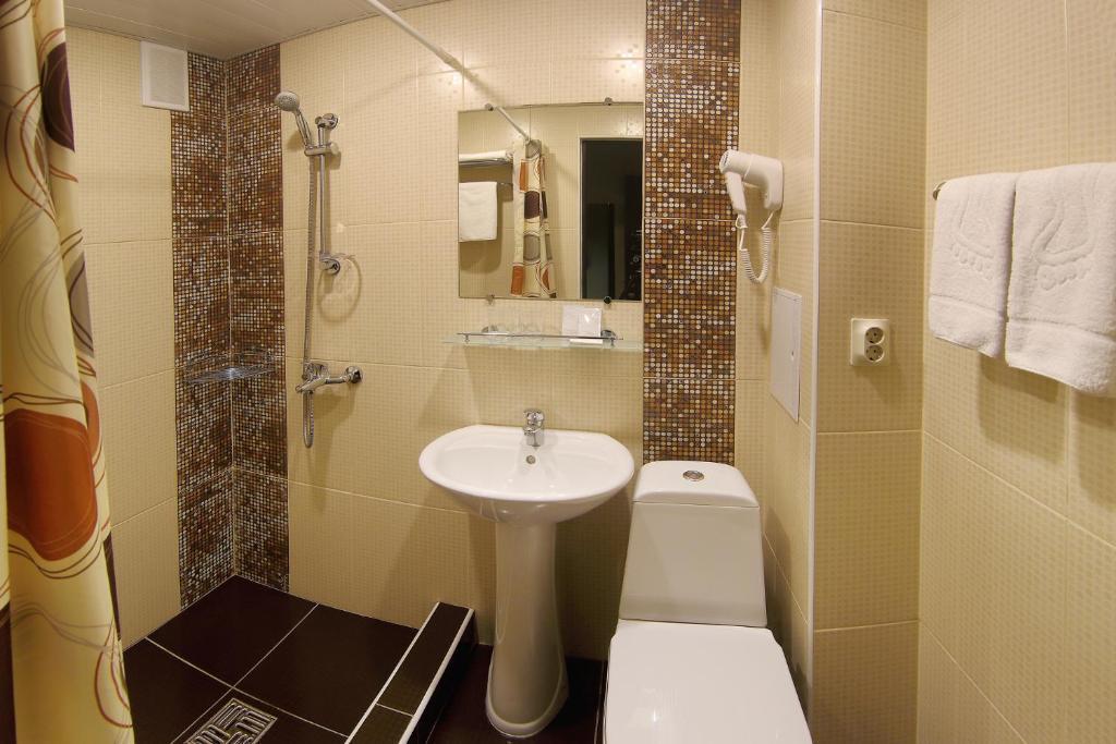 Ванная комната в Гостиница Садко