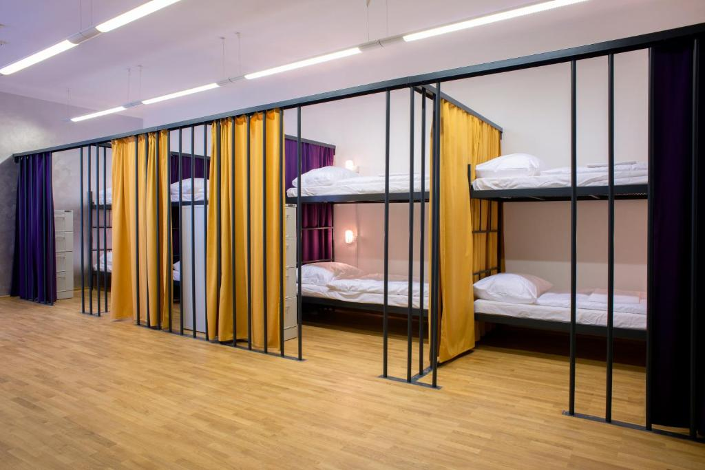 A bunk bed or bunk beds in a room at Hostel Tresor