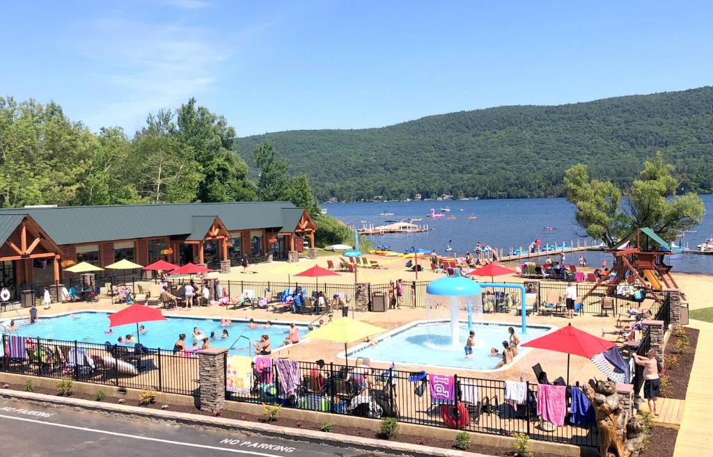 A view of the pool at Scotty's Lakeside Resort or nearby