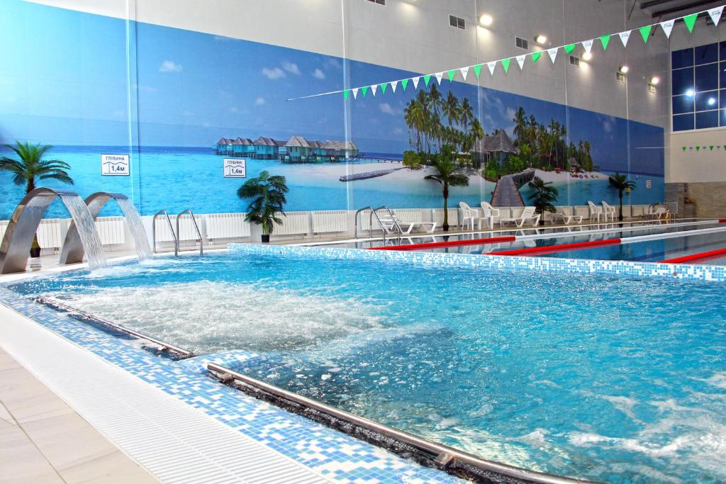 The swimming pool at or near Lider Hotel