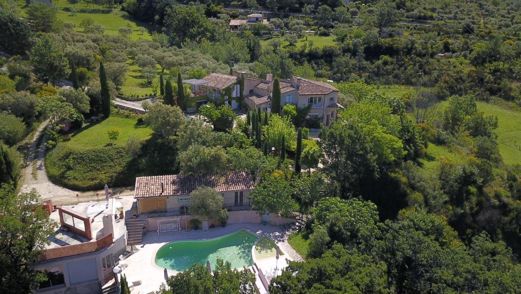 A bird's-eye view of Le Jas Du Colombier