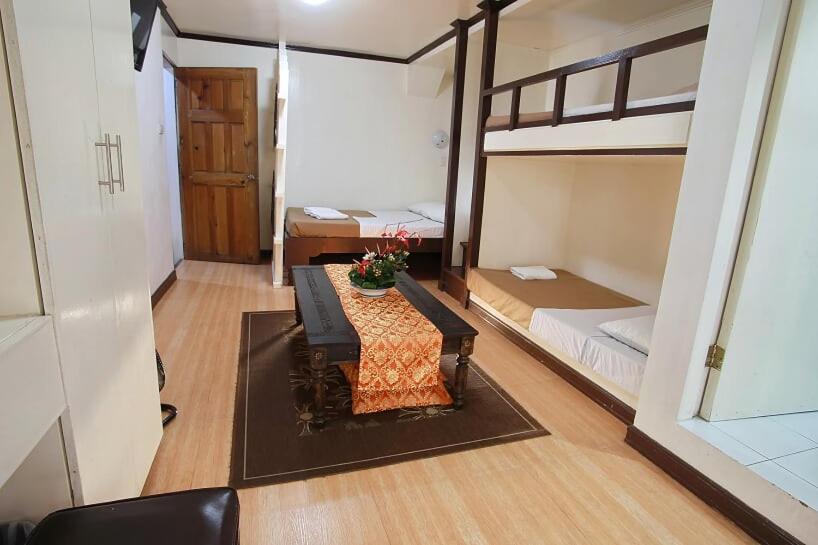 A bunk bed or bunk beds in a room at Inn Rocio