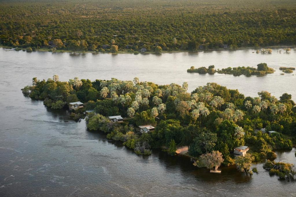 A bird's-eye view of Victoria Falls River Lodge