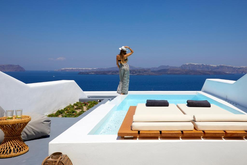 The swimming pool at or near Phos The Boutique