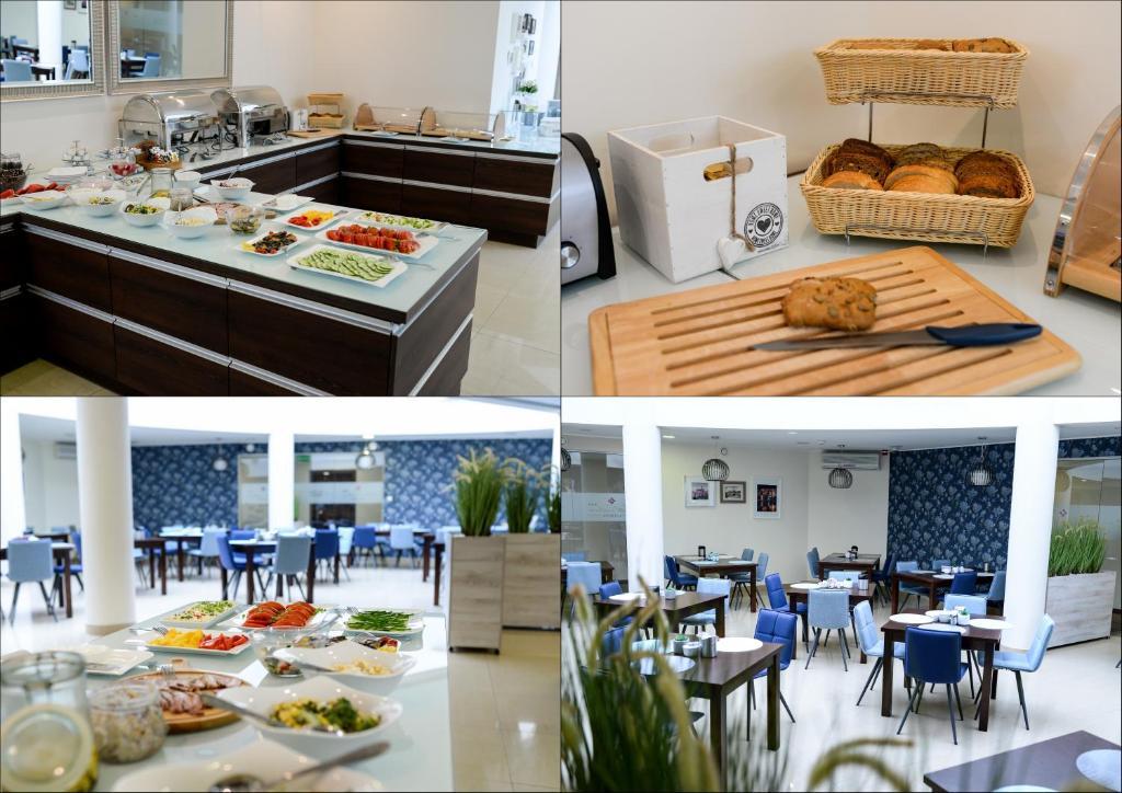 מסעדה או מקום אחר לאכול בו ב-Hotel Centrum Malbork
