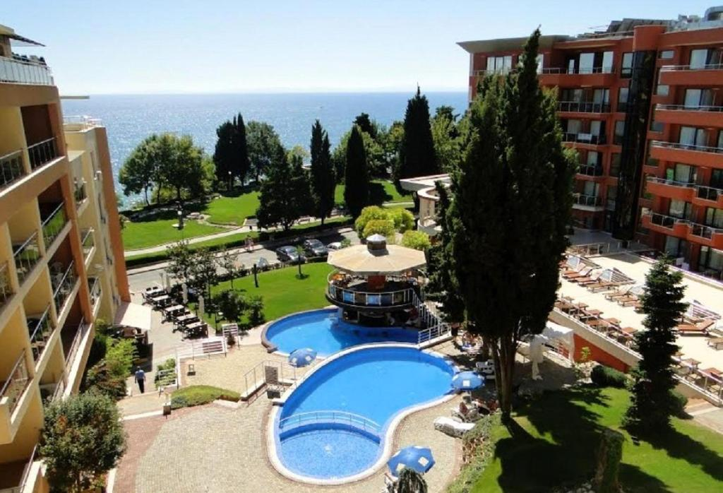 A view of the pool at Two Bedroom Apartment - Panorama Beach Nesebar or nearby