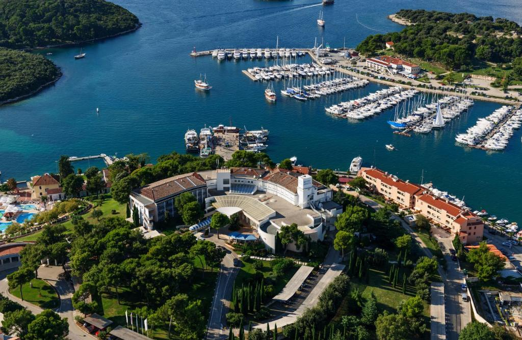 Een luchtfoto van Hotel Pineta