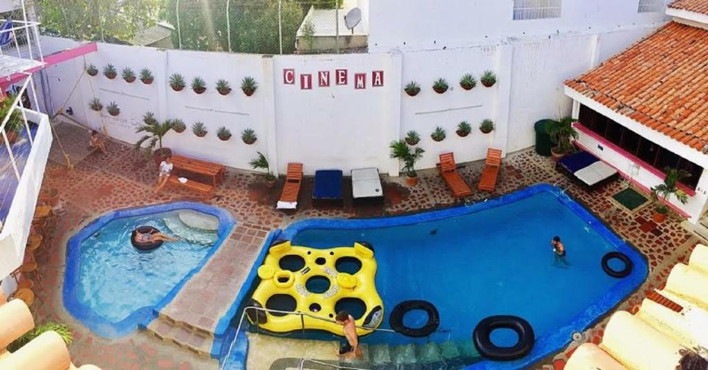 A view of the pool at Drop Bear Hostel or nearby