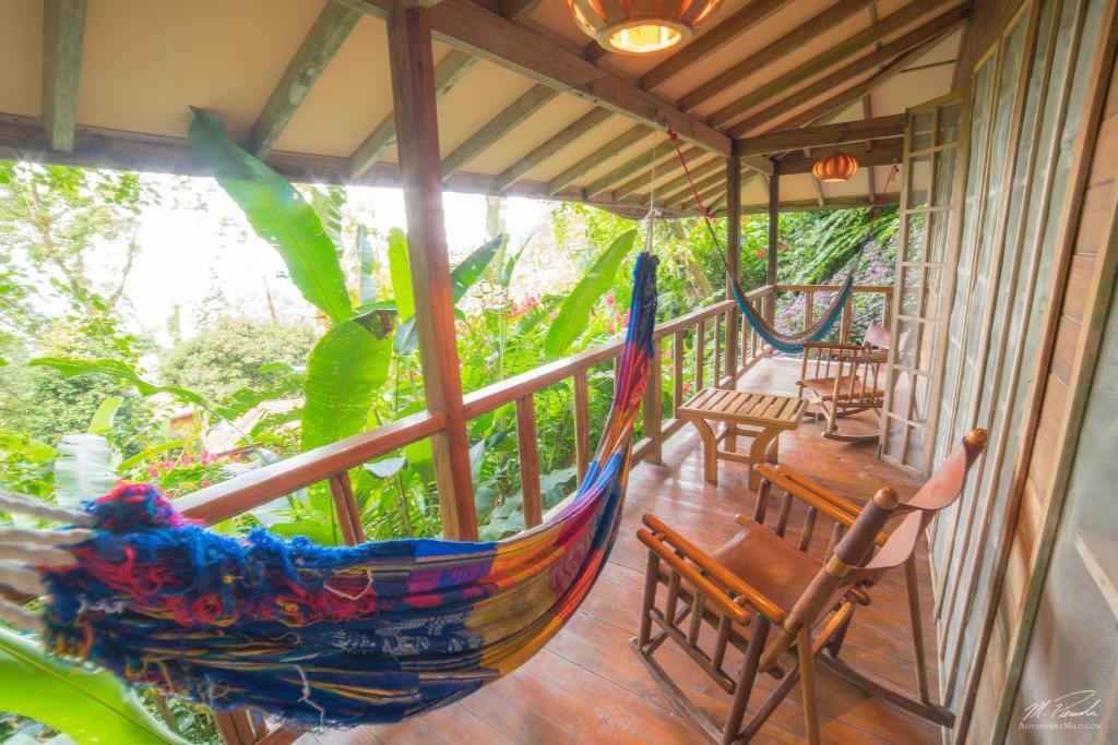 Un balcón o terraza de Samasati Yoga & Wellness Retreat