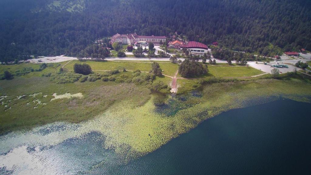 Apgyvendinimo įstaigos Abant Palace Hotel vaizdas iš viršaus