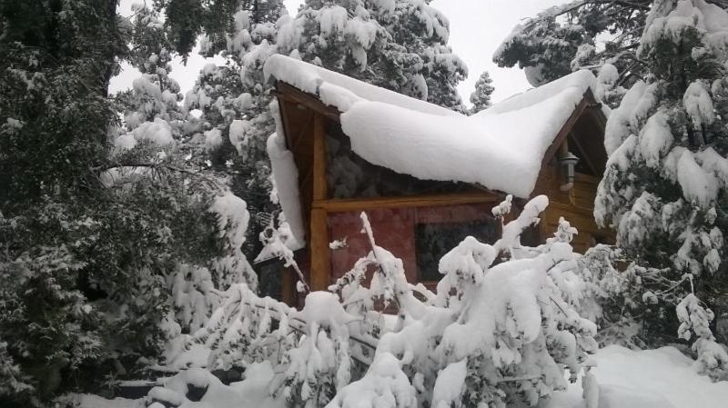 Cabañas De La Comarca durante el invierno
