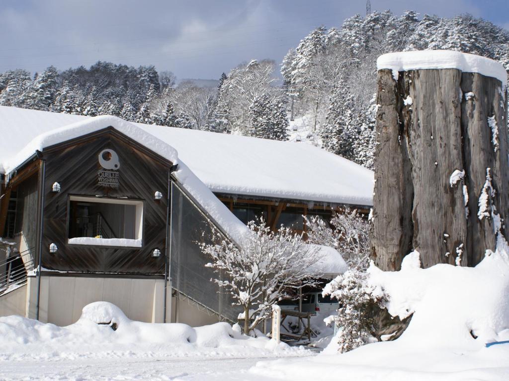 冬の女鹿平温泉クヴェーレ吉和の様子