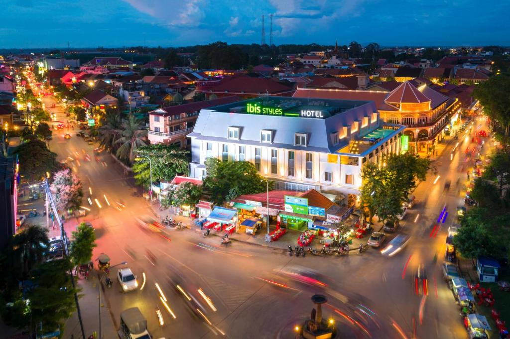 A general view of Siem Reap or a view of the city taken from the hotel