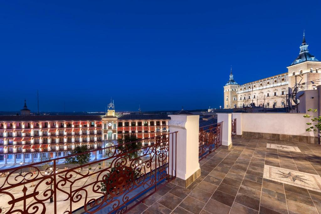 A balcony or terrace at Hotel Boutique Adolfo