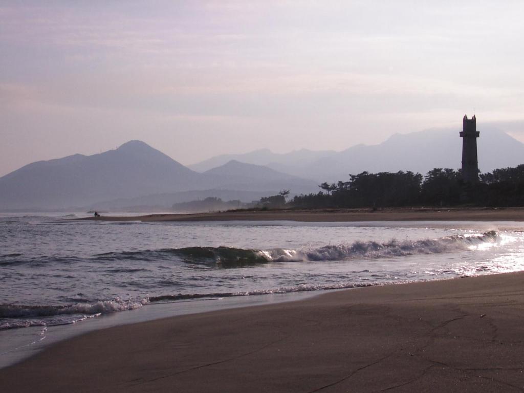 A beach at or near the ryokan