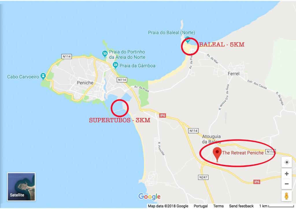 Quarto Em Acomodacao Particular The Retreat Peniche Portugal