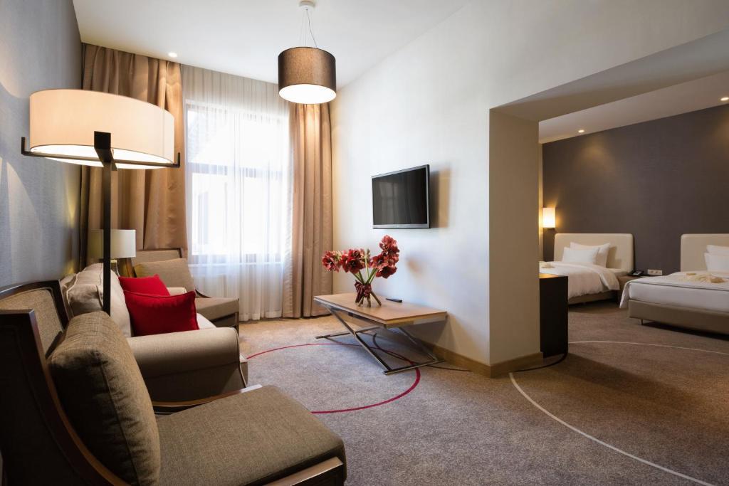Гостиная зона в Отель Горки Панорама