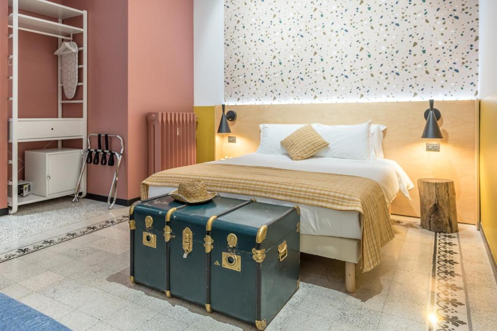 A bed or beds in a room at monocase milano