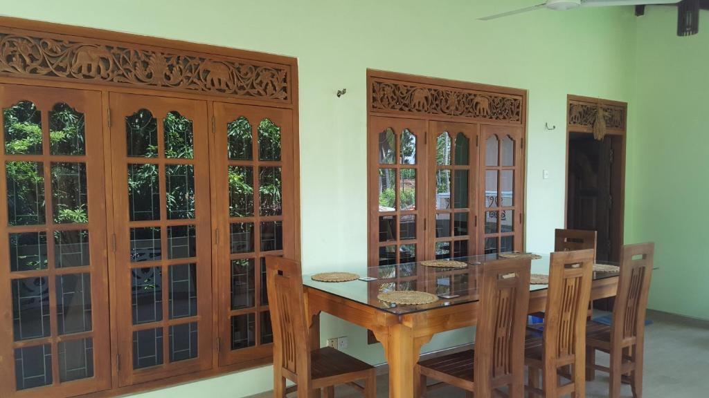 Dining area at the homestay