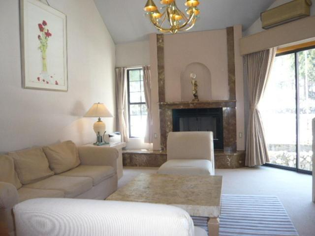 A seating area at Hakuba Royal Suites