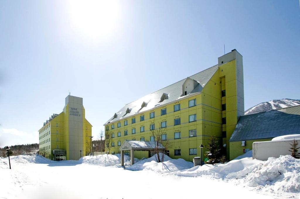 冬の安比高原温泉ホテルの様子