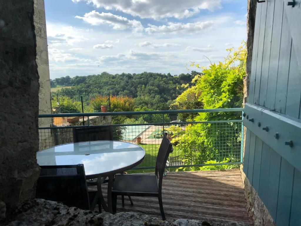 Balcon ou terrasse dans l'établissement Gite Les Hortalis