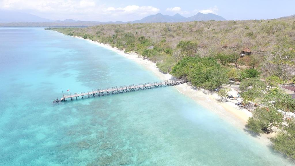 A bird's-eye view of NusaBay Menjangan