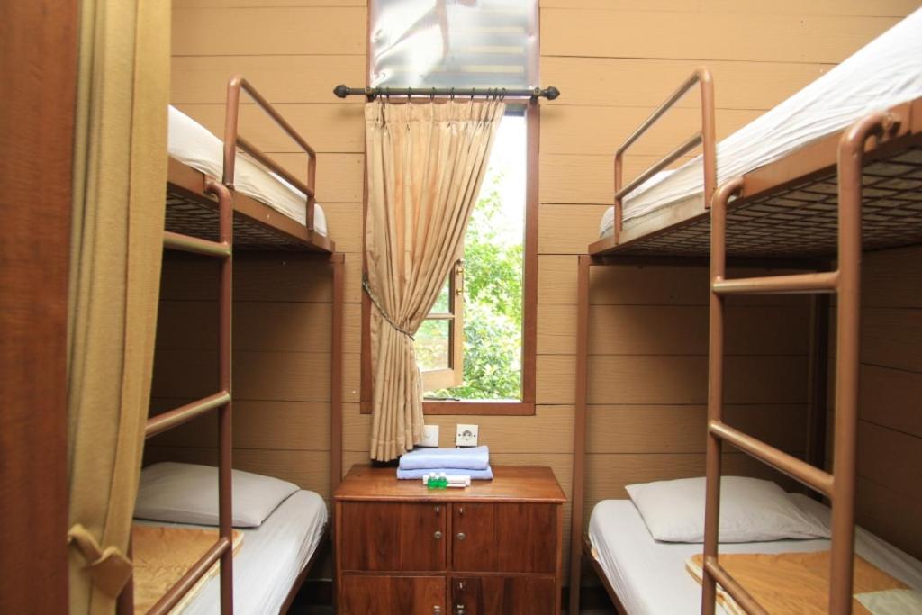 Tempat tidur susun dalam kamar di CICO Resort