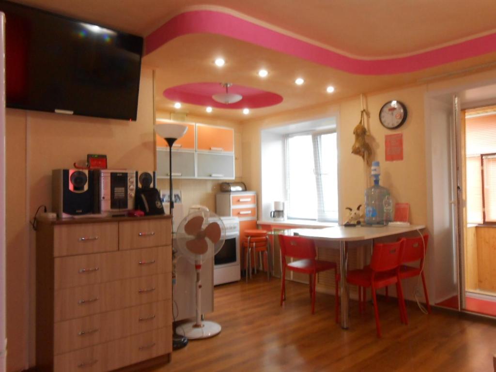 A kitchen or kitchenette at Apartment Na Tukaya