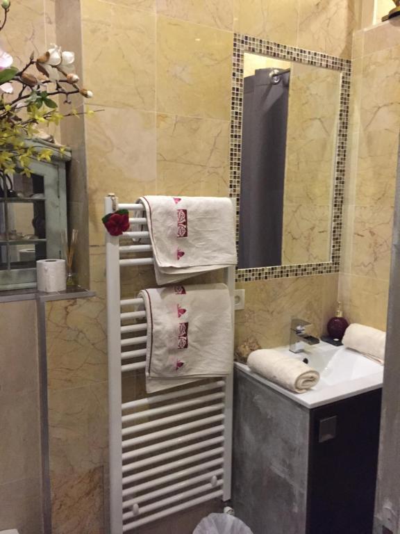 A bathroom at Chambre cocooning avec s.de bain prive