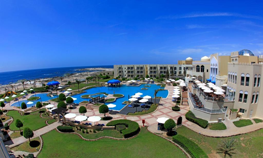 A view of the pool at Kairaba Mirbat Resort or nearby