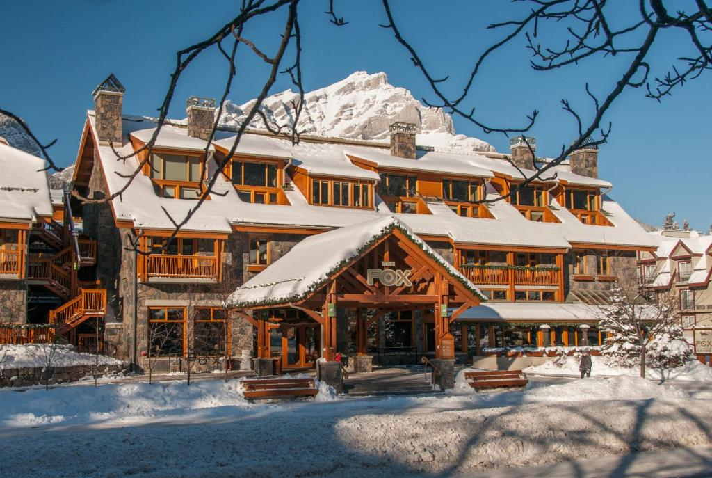 Fox Hotel and Suites during the winter