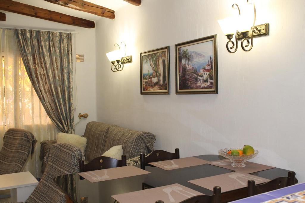 A seating area at Apartment Aldea