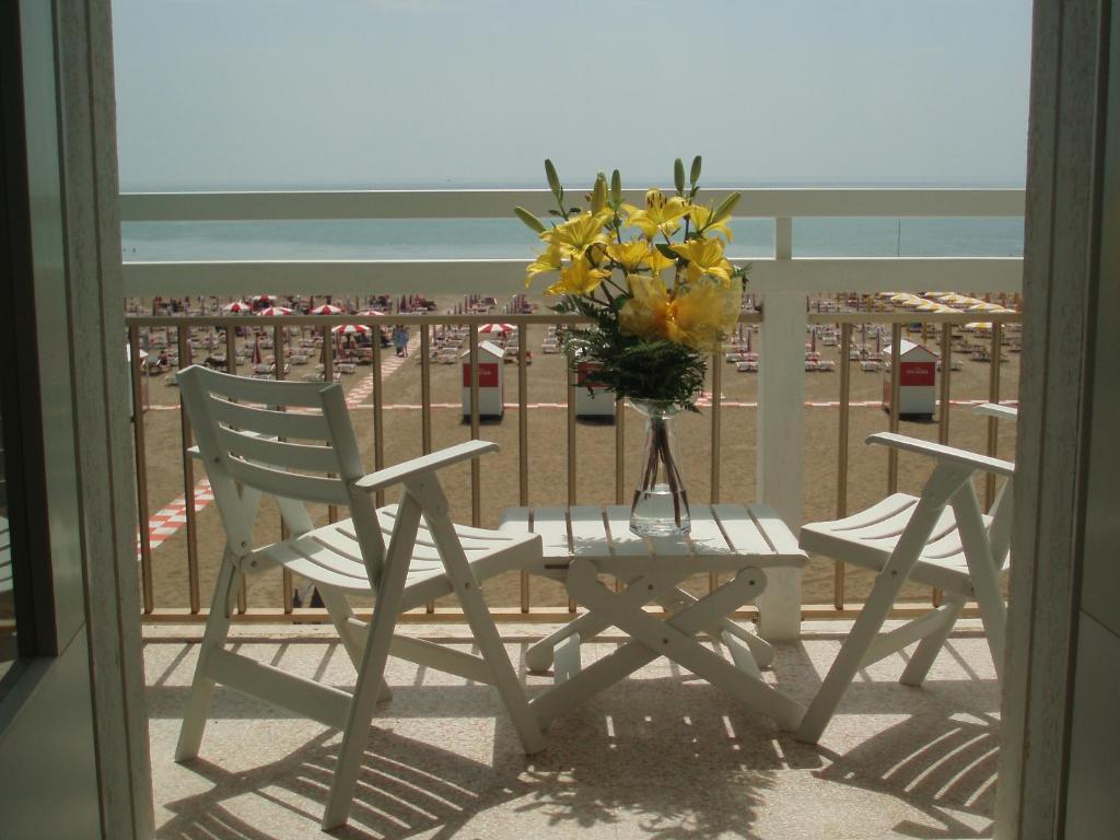 Balcone o terrazza di Hotel Tizian Beach
