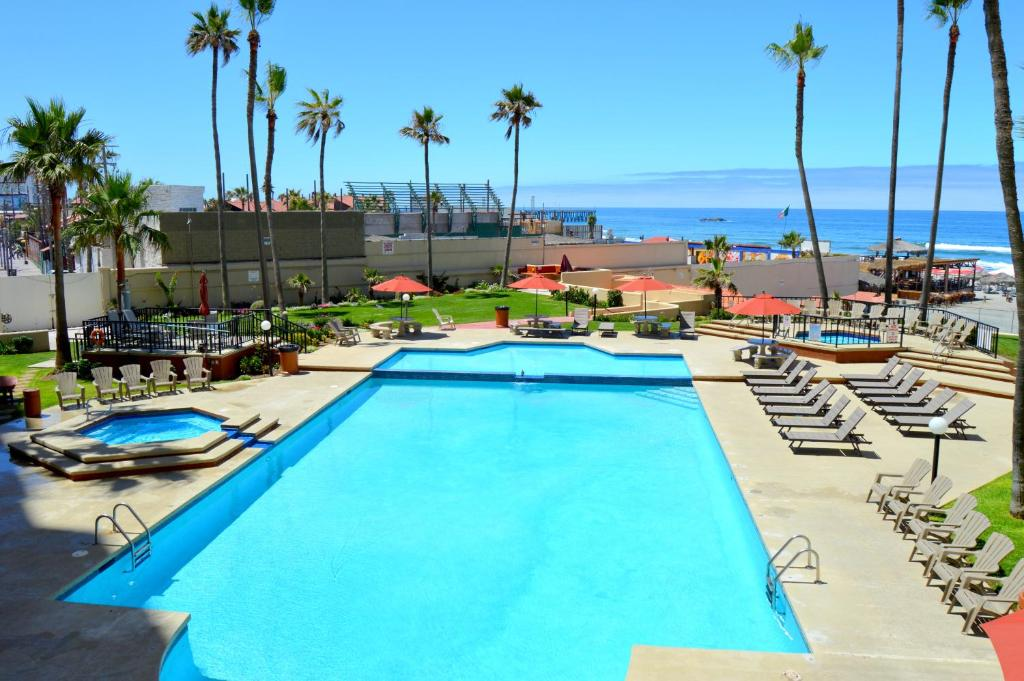 The swimming pool at or near Rosarito Inn