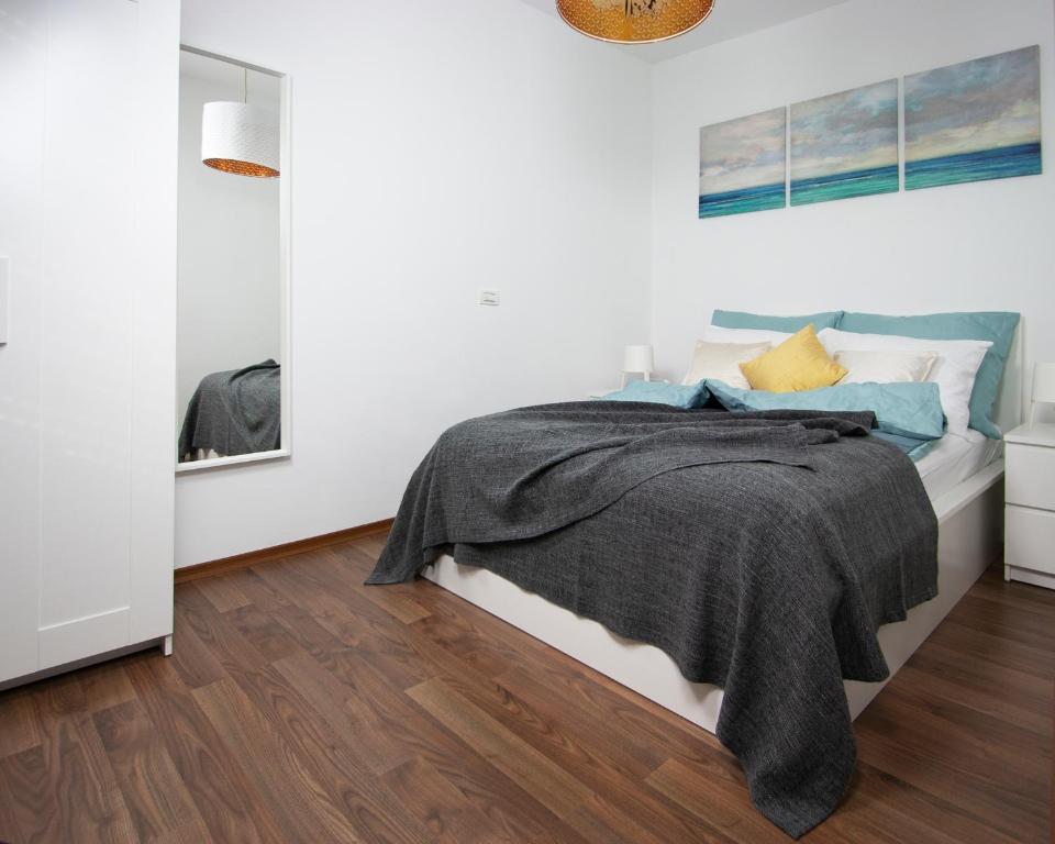 Postelja oz. postelje v sobi nastanitve Address Ljubljana