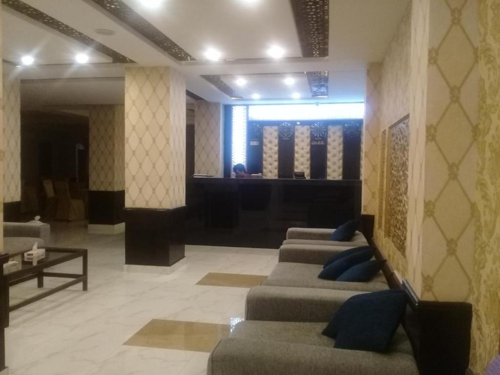 The lobby or reception area at Hotel Heaven Heights Rawalpindi