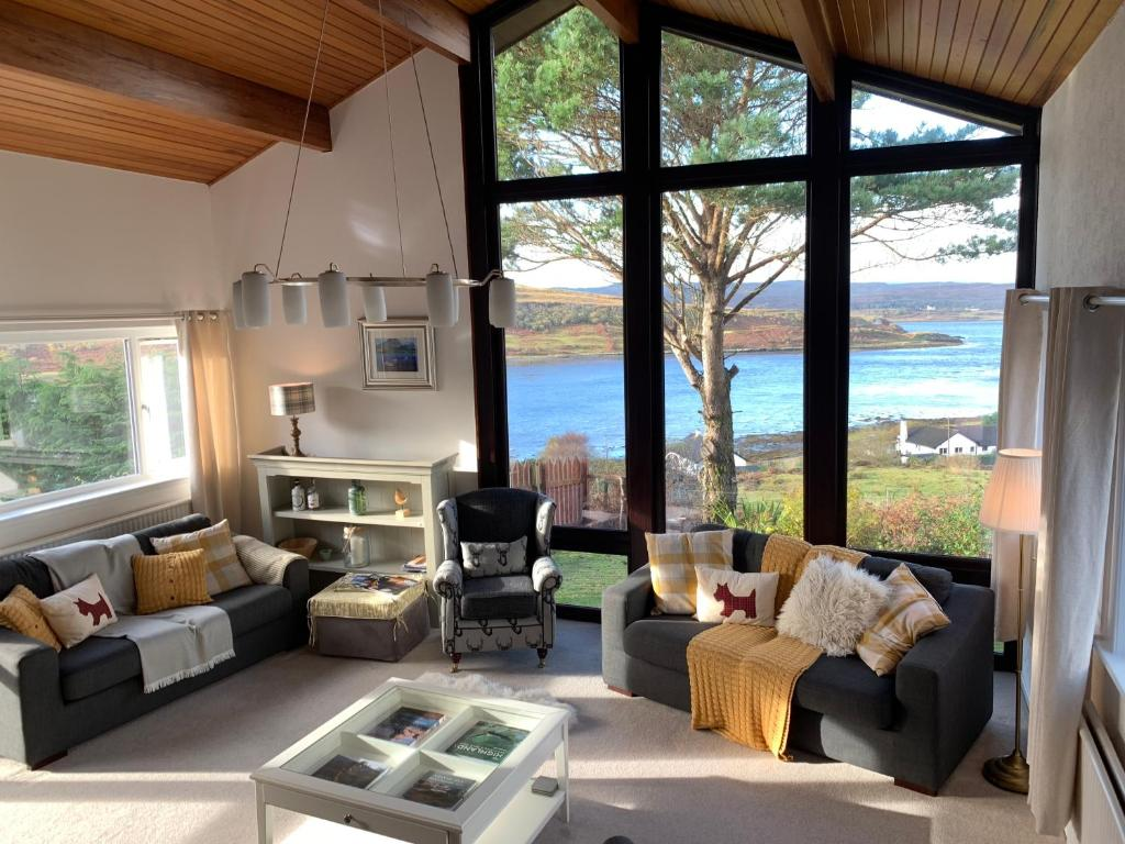 A seating area at Loch Eyre House