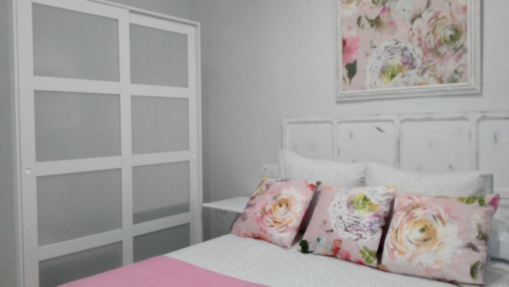 Cama o camas de una habitación en Piso con encanto en casco antiguo