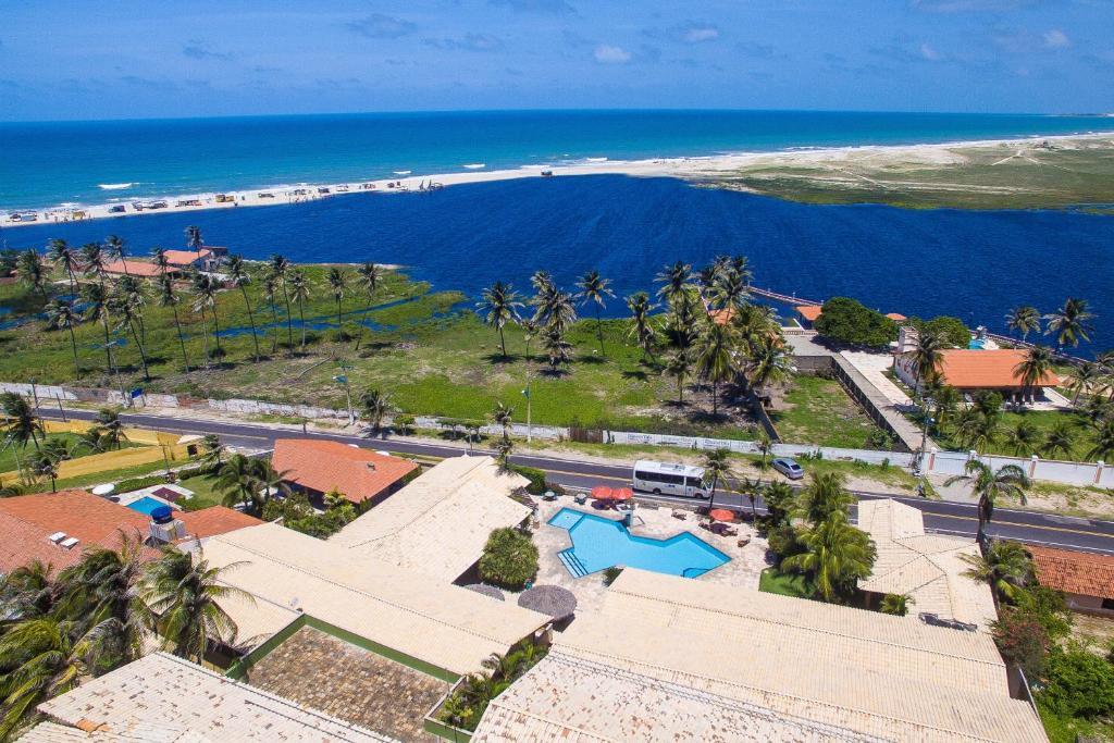 A bird's-eye view of Hotel Laguna Blu