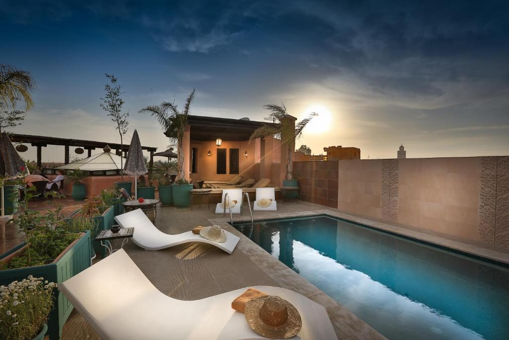 The swimming pool at or near Riad & Spa Bahia Salam