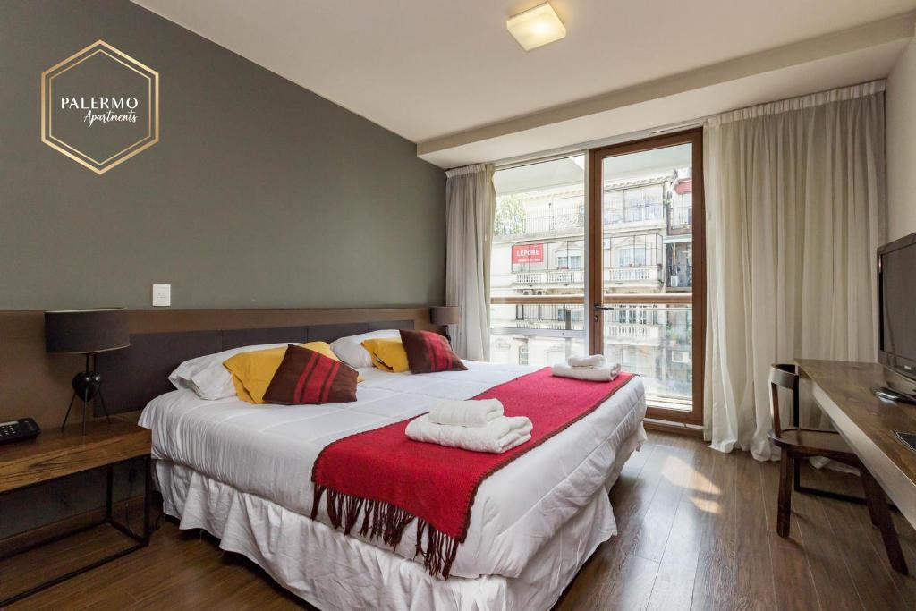 Lova arba lovos apgyvendinimo įstaigoje Palermo Apartments