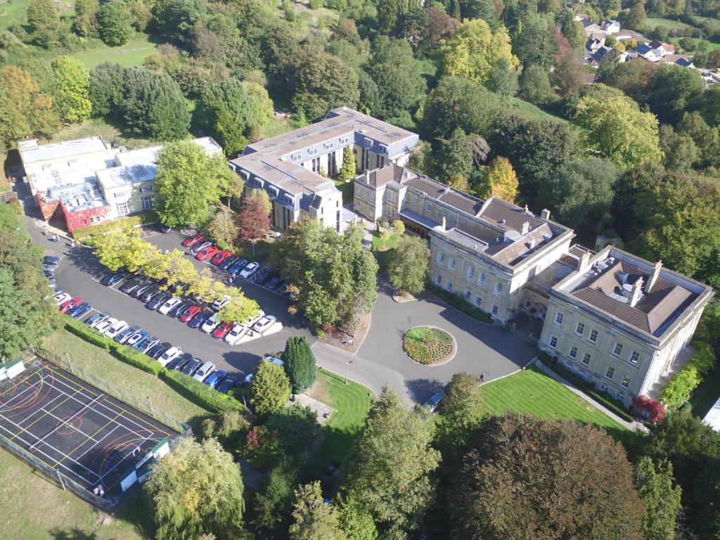A bird's-eye view of Bailbrook House Hotel - a Hand Picked Hotel