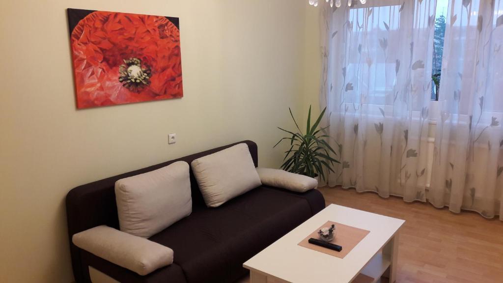 Uma área de estar em Gražinos apartamentai