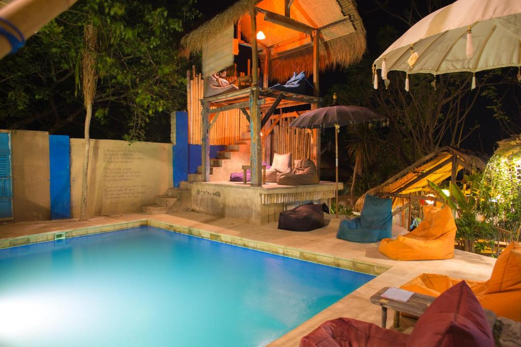 The swimming pool at or near Gili La Boheme