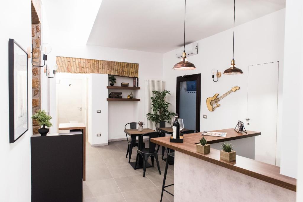 Kuchyň nebo kuchyňský kout v ubytování Colosseum Music Design