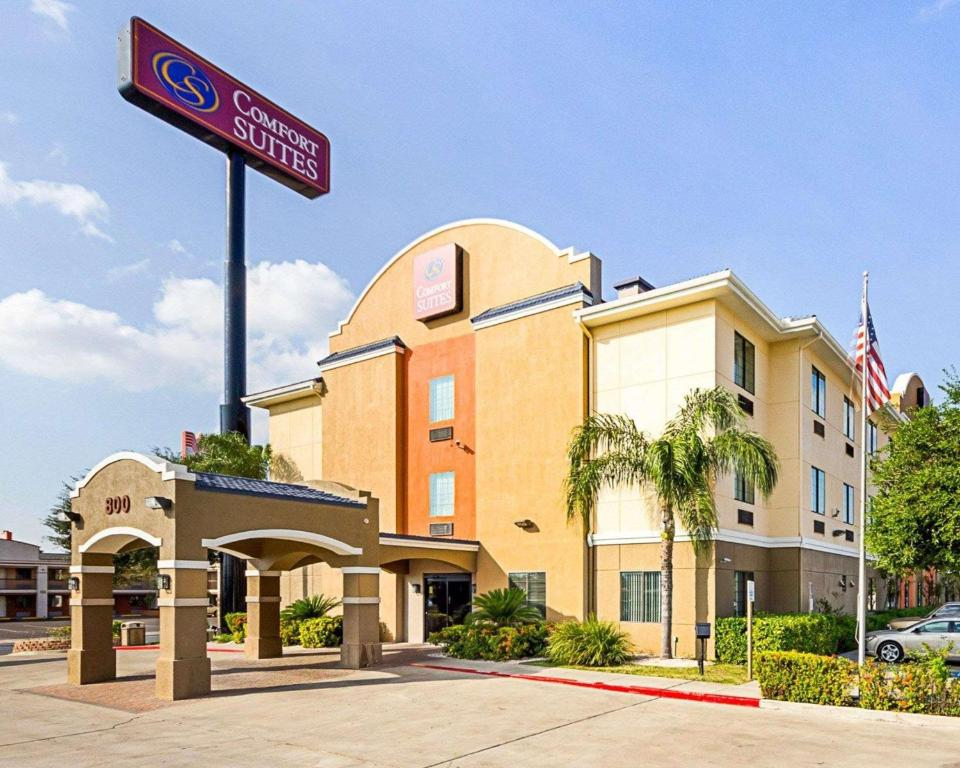 Comfort Suites at Plaza Mall.