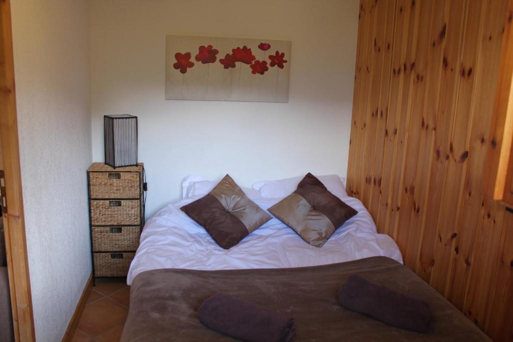 Vuode tai vuoteita majoituspaikassa Alpage: Residence Brevent