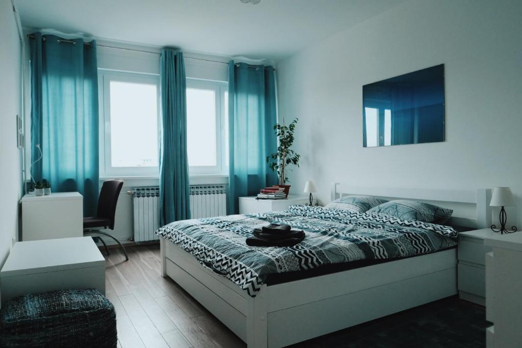 Posteľ alebo postele v izbe v ubytovaní Maksimir Hideaway